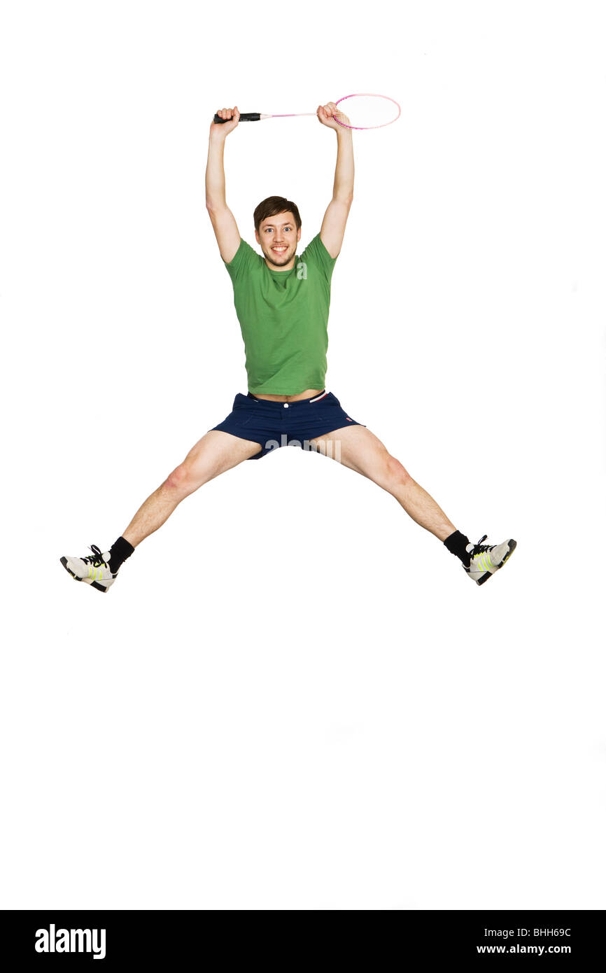 Man jumping. - Stock Image