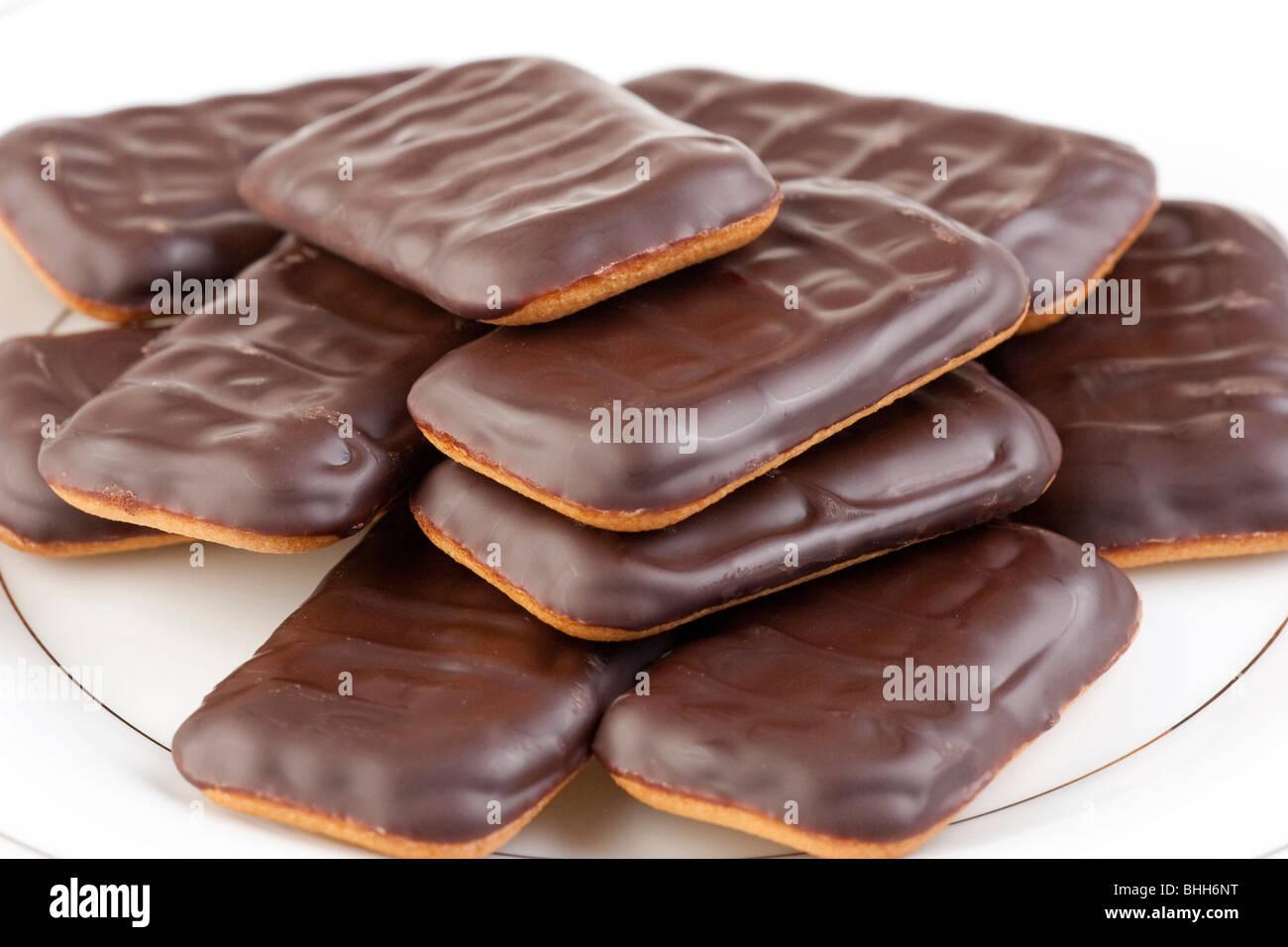 rectangular Jaffa cakes - Stock Image
