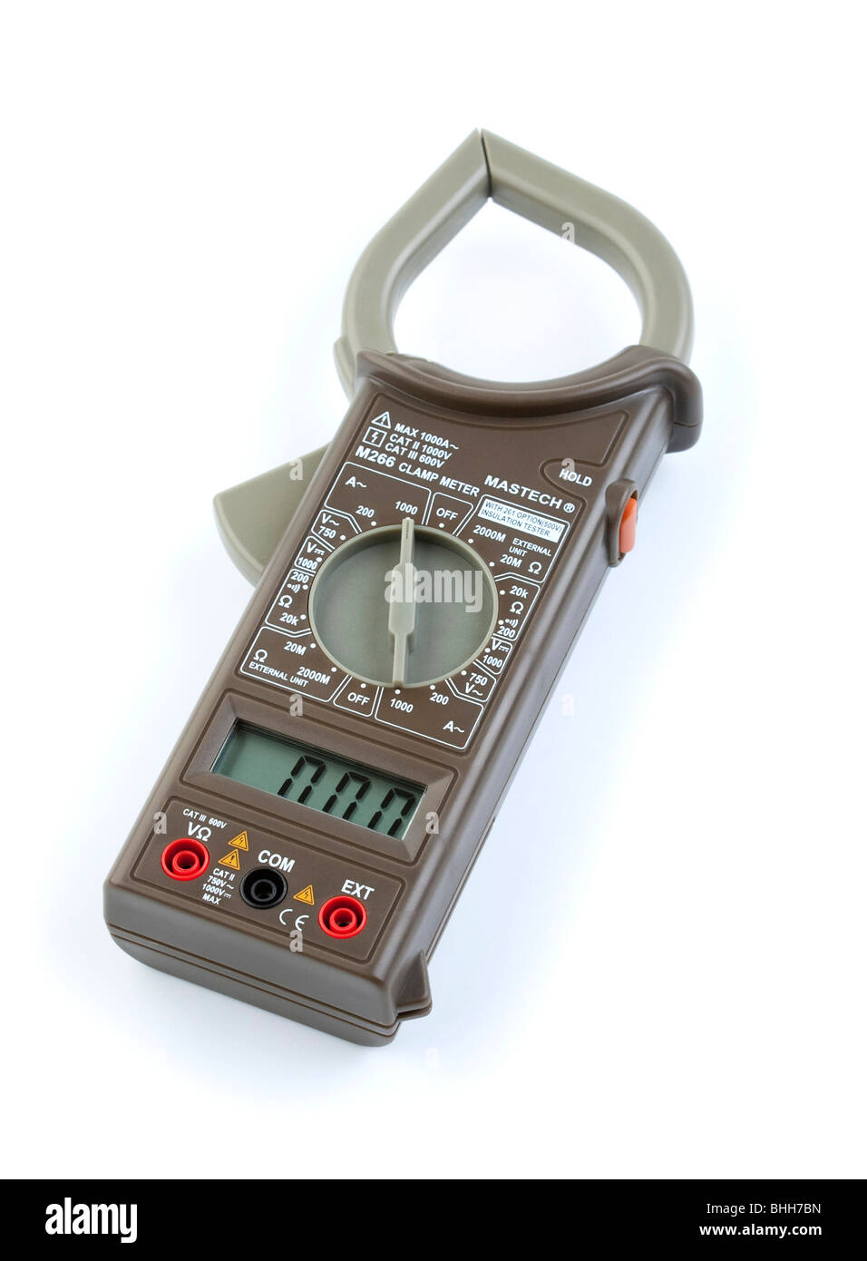 digital multimeter with current clamp measurement - Stock Image