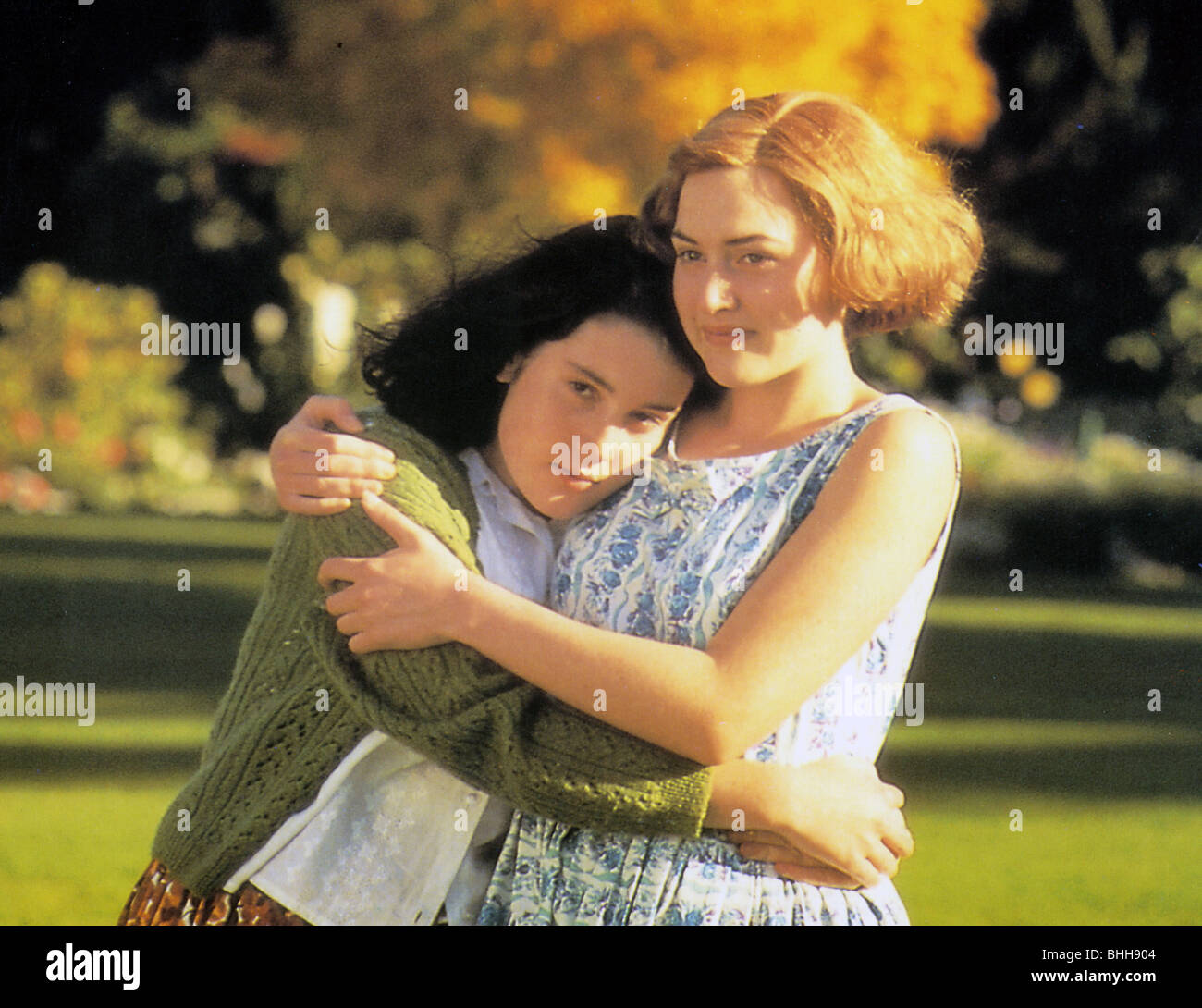 HEAVENLY CREATURES  - 1994 Buena Vista film with Kate Winslet at right and Melanie Lynskey - Stock Image