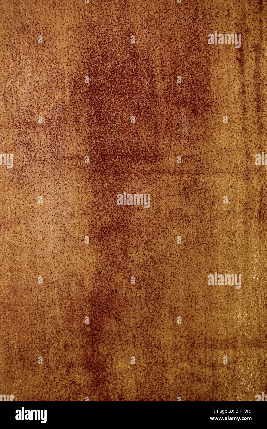 Rusty sheet metal, close-up, Sweden. - Stock Image