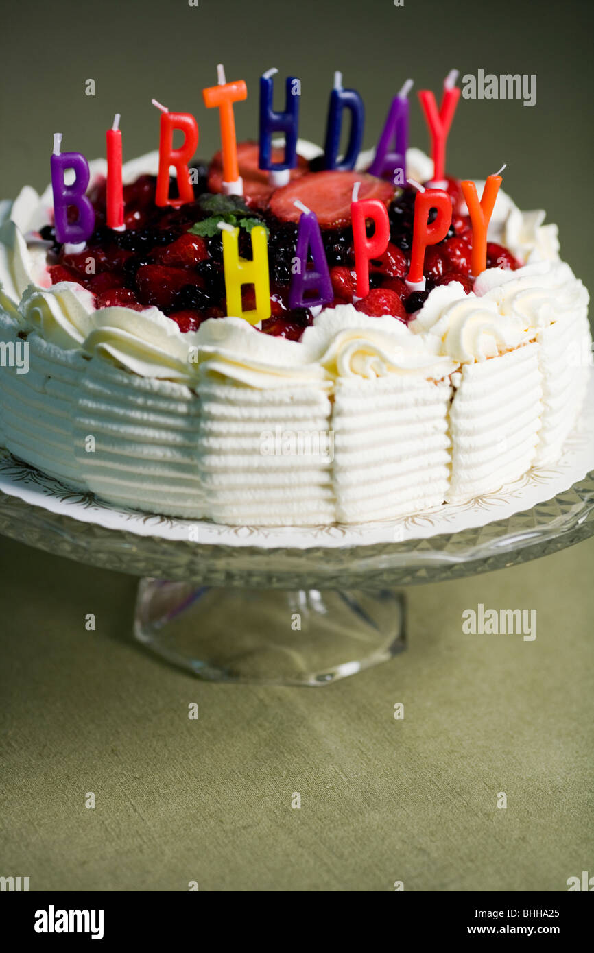Colorful Birthday Cake Letters Stock Photos Colorful Birthday Cake