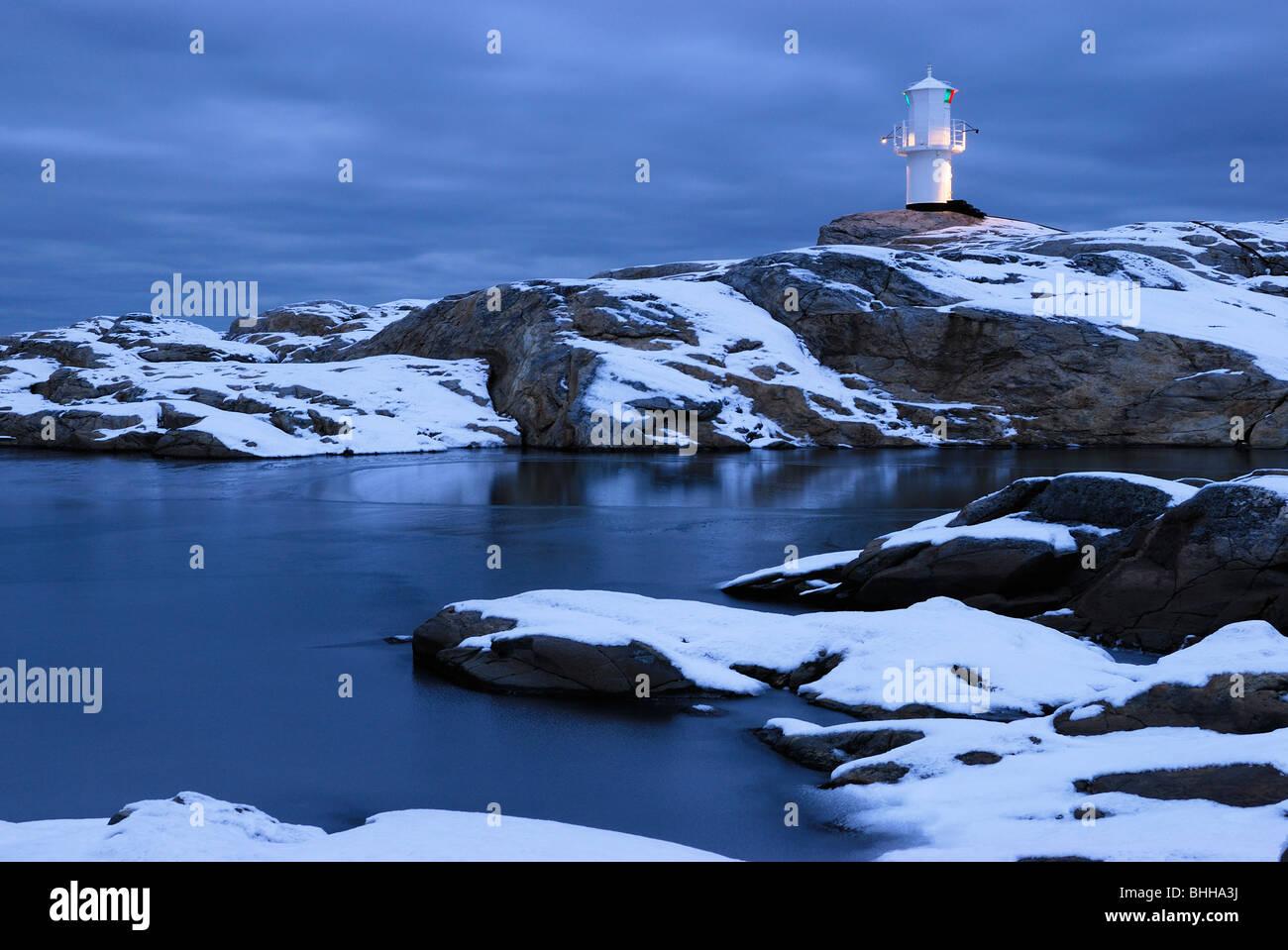 A lighthouse, Bohuslan, Sweden. - Stock Image