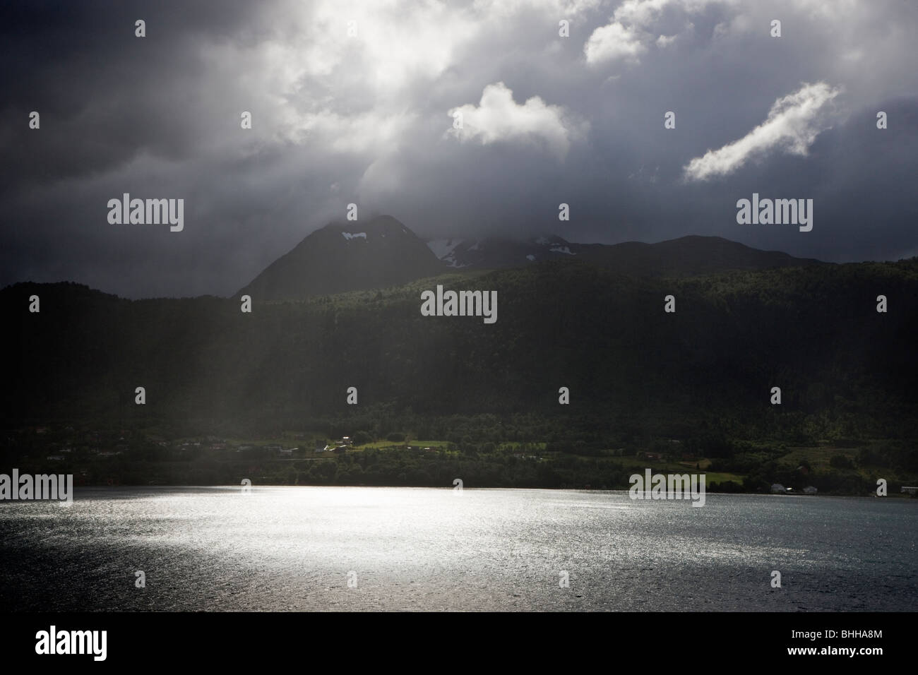 A fiord in Norway. - Stock Image