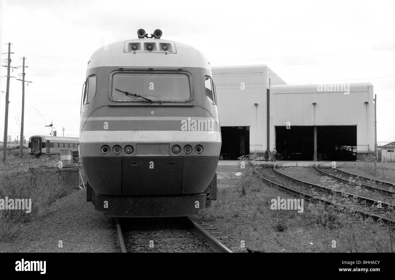 Intercity XPT train at Sydney XPT Depot 1988 - Stock Image