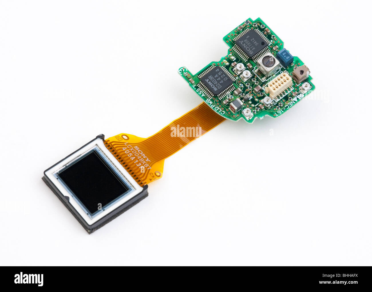 0.7' size micro colour display LCD screen - Stock Image