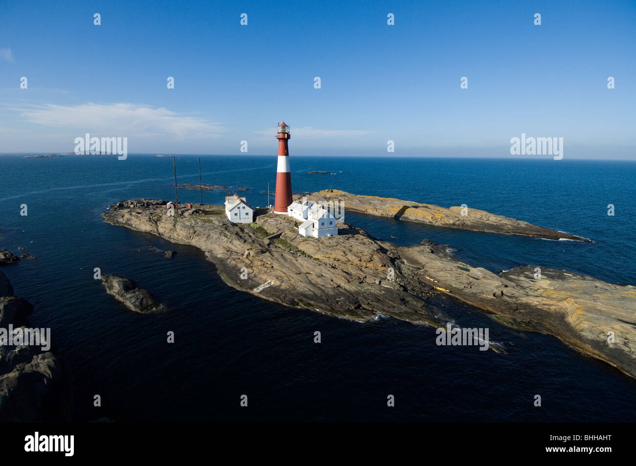 Lighthouse, Faerder, Norway. - Stock Image