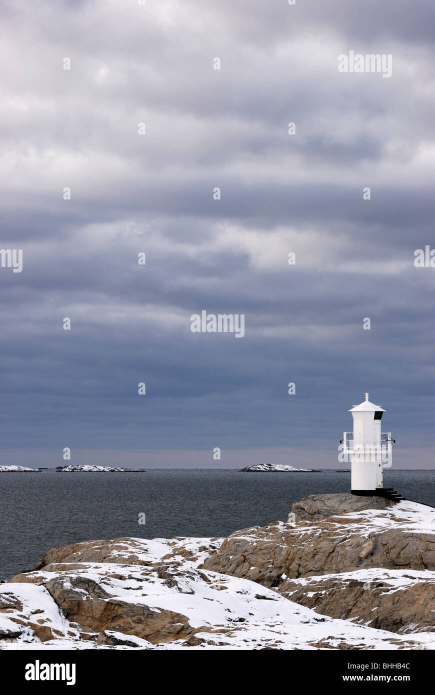 A lighthouse, Marstrand, Bohuslan, Sweden. - Stock Image