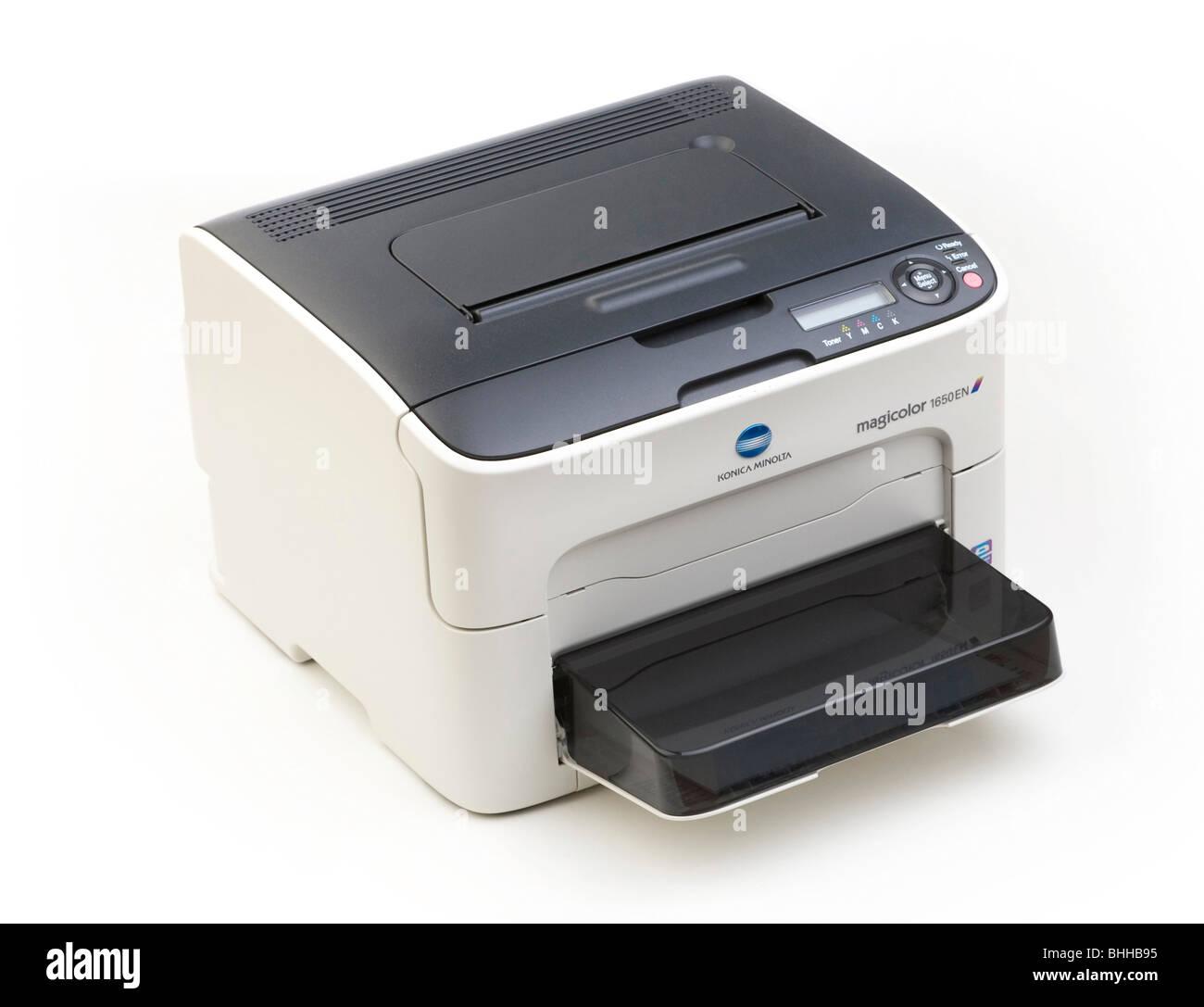 Konica Minolta Magicolor 1650EN colour laser printer - Stock Image