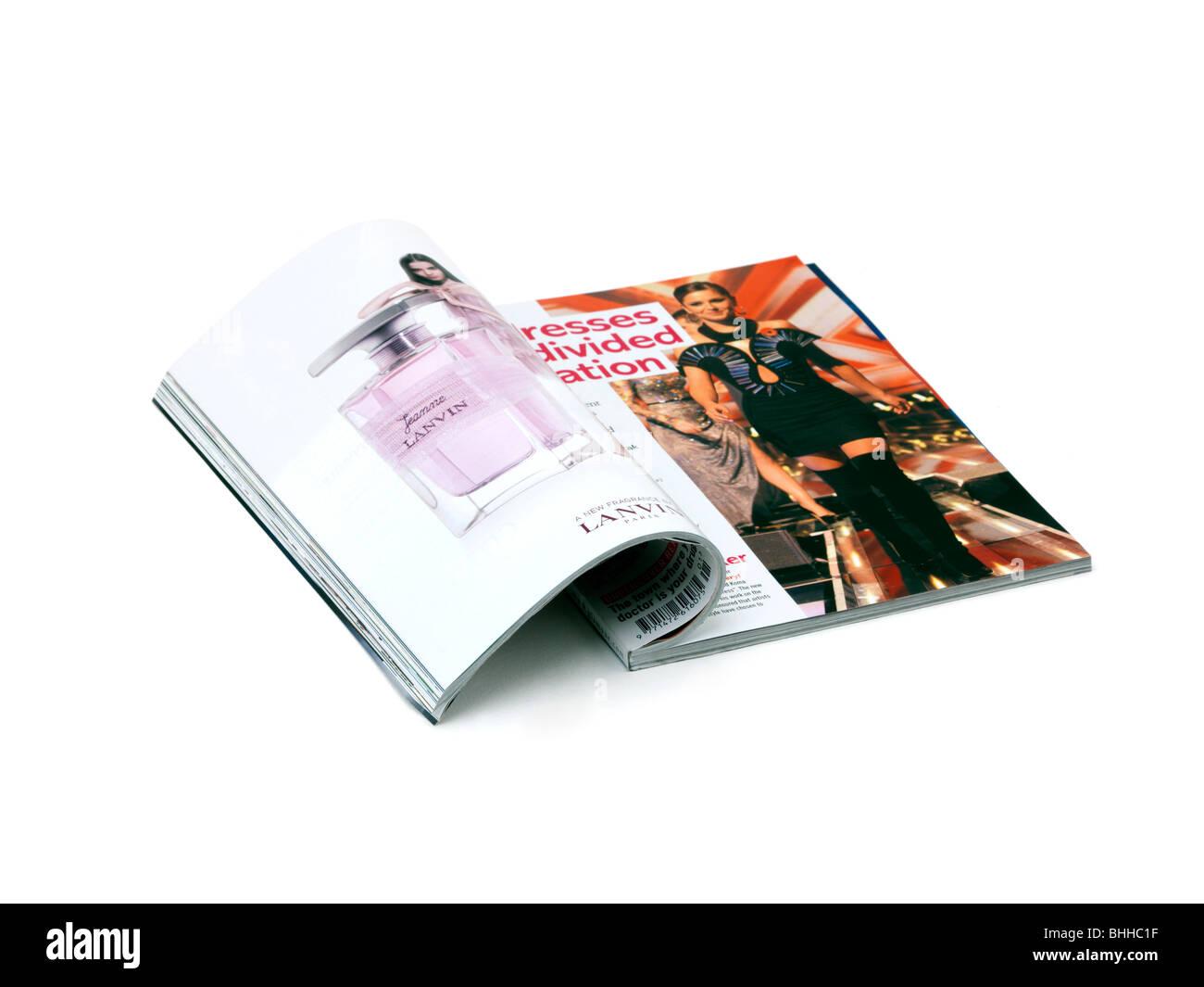 An Open Magazine - Stock Image