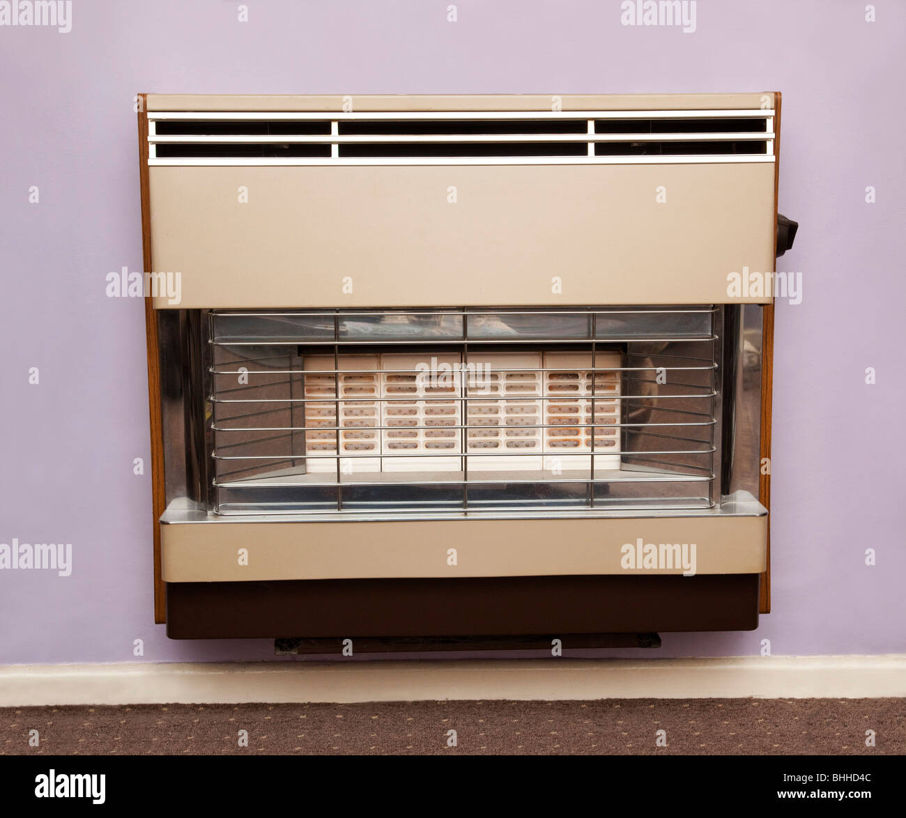 gas heater in room - Stock Image