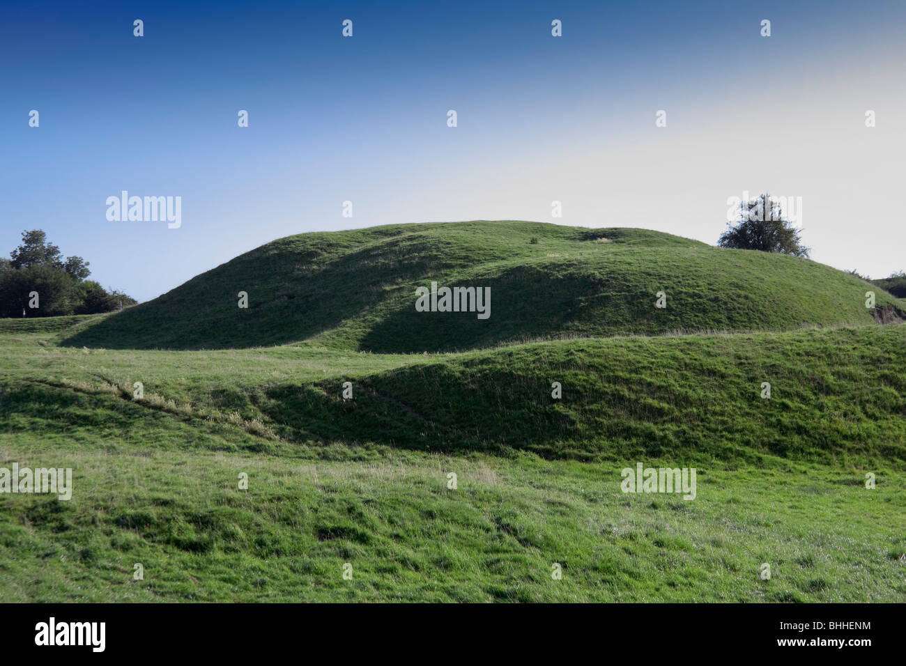 motte and bailey castle yelden bedfordshire home counties england uk europe - Stock Image