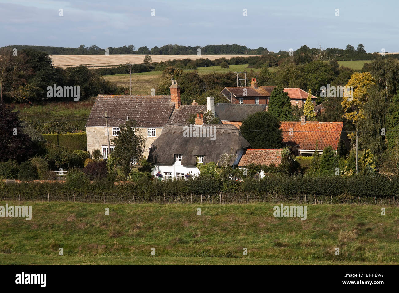 village villages hamlet houses homes property real estate typical typically english community yelden yielden bedfordshire - Stock Image