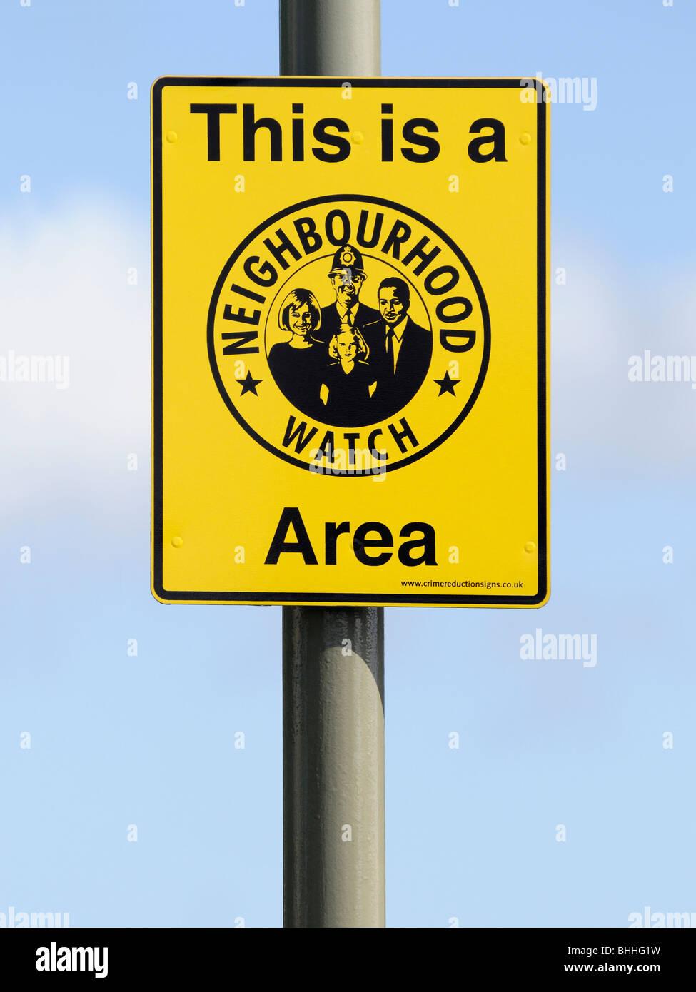 Neighbourhood Watch Sign, UK. - Stock Image
