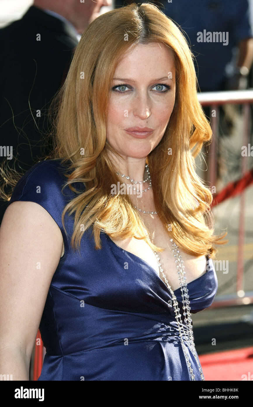 GILLIAN ANDERSON THE X-FILES: I WANT TO BELIEVE WORLD PREMIERE HOLLYWOOD LOS ANGELES CA USA 23 July 2008 - Stock Image