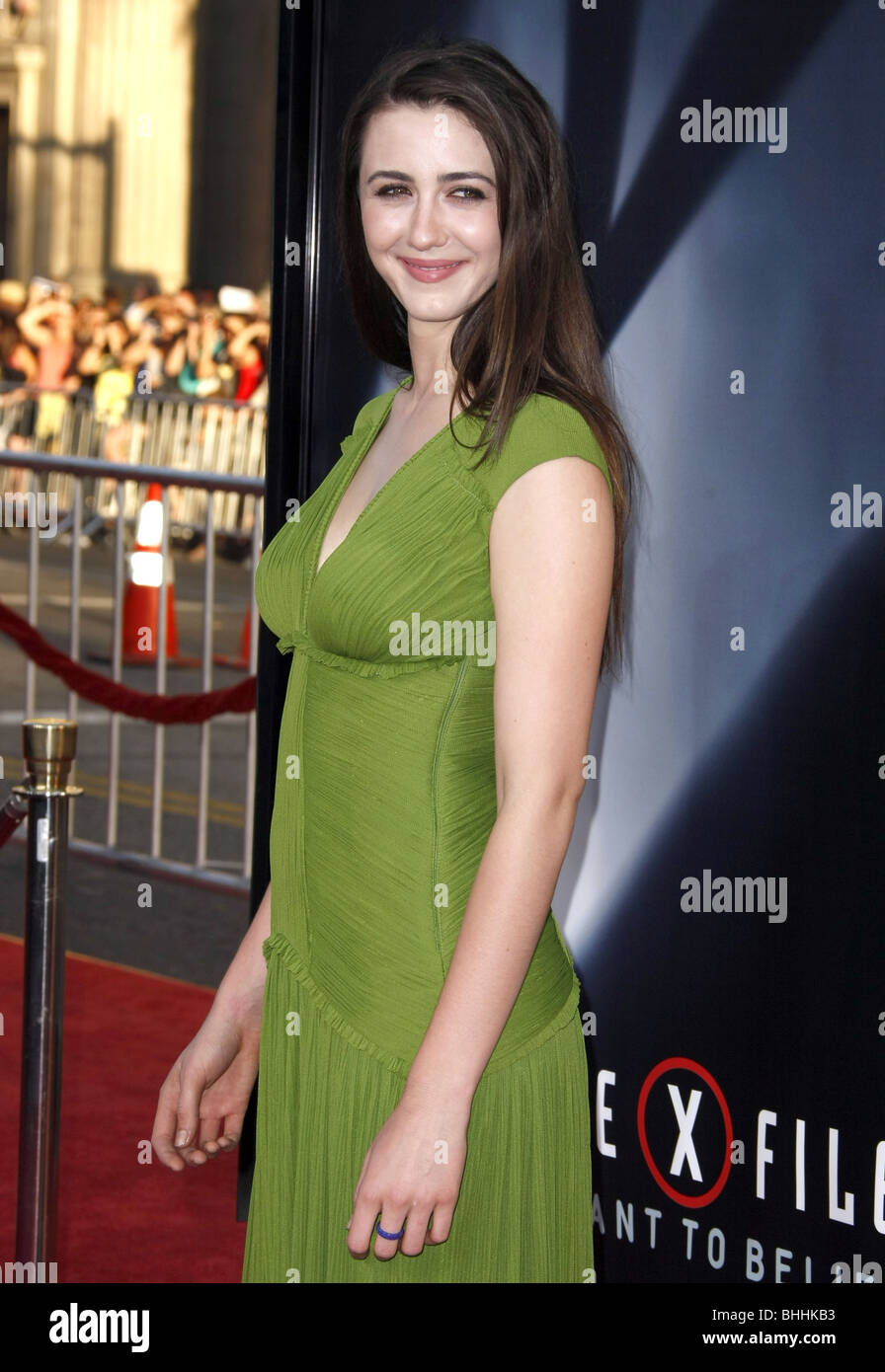 MADELINE ZIMA THE X-FILES: I WANT TO BELIEVE WORLD PREMIERE HOLLYWOOD LOS ANGELES CA USA 23 July 2008 - Stock Image