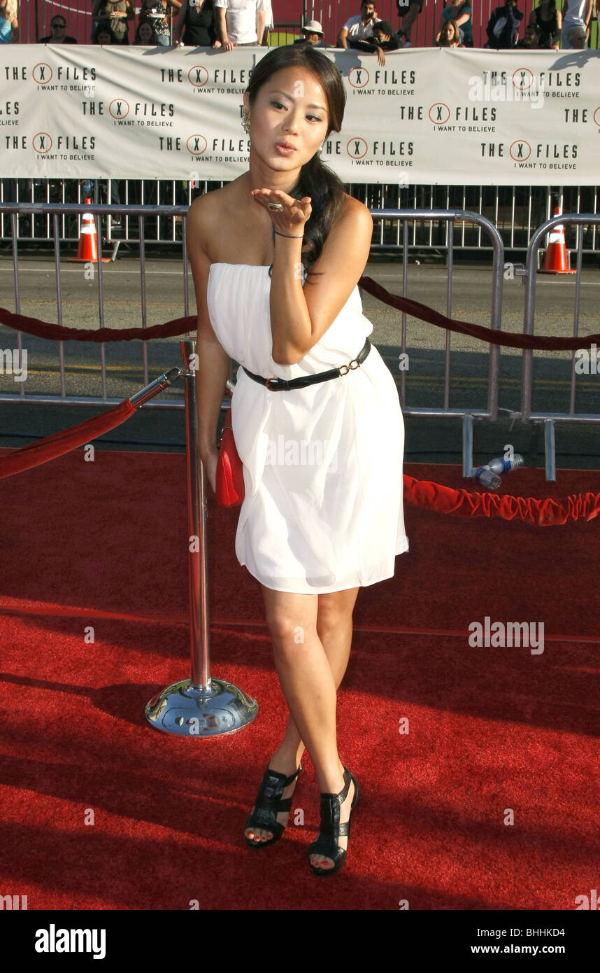JAMIE CHUNG THE X-FILES: I WANT TO BELIEVE WORLD PREMIERE HOLLYWOOD LOS ANGELES CA USA 23 July 2008 - Stock Image