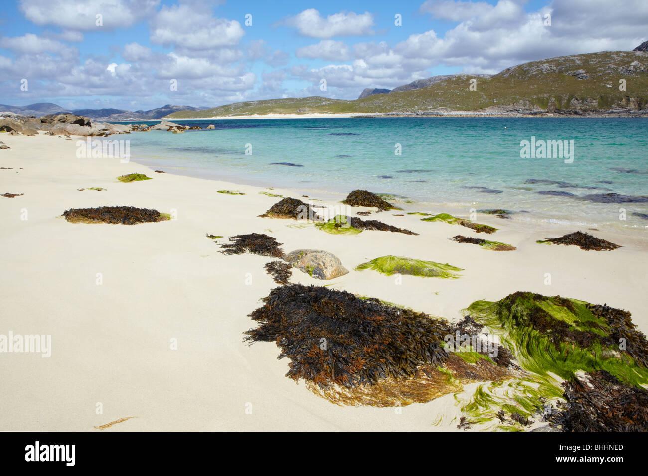 View across the Kyle of Scarp to mainland Harris, Scotland - Stock Image