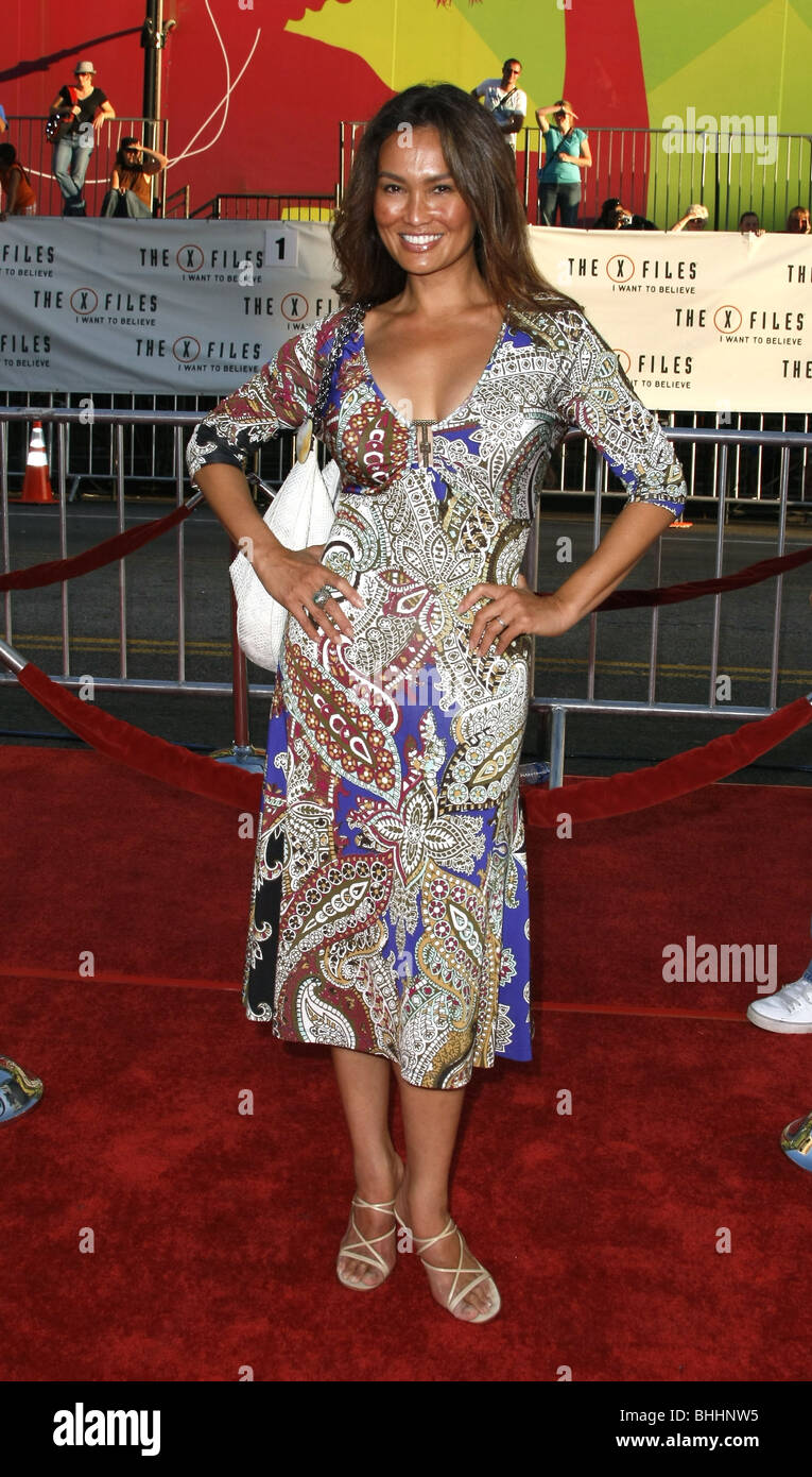 TIA CARRERE THE X-FILES: I WANT TO BELIEVE WORLD PREMIERE HOLLYWOOD LOS ANGELES CA USA 23 July 2008 - Stock Image