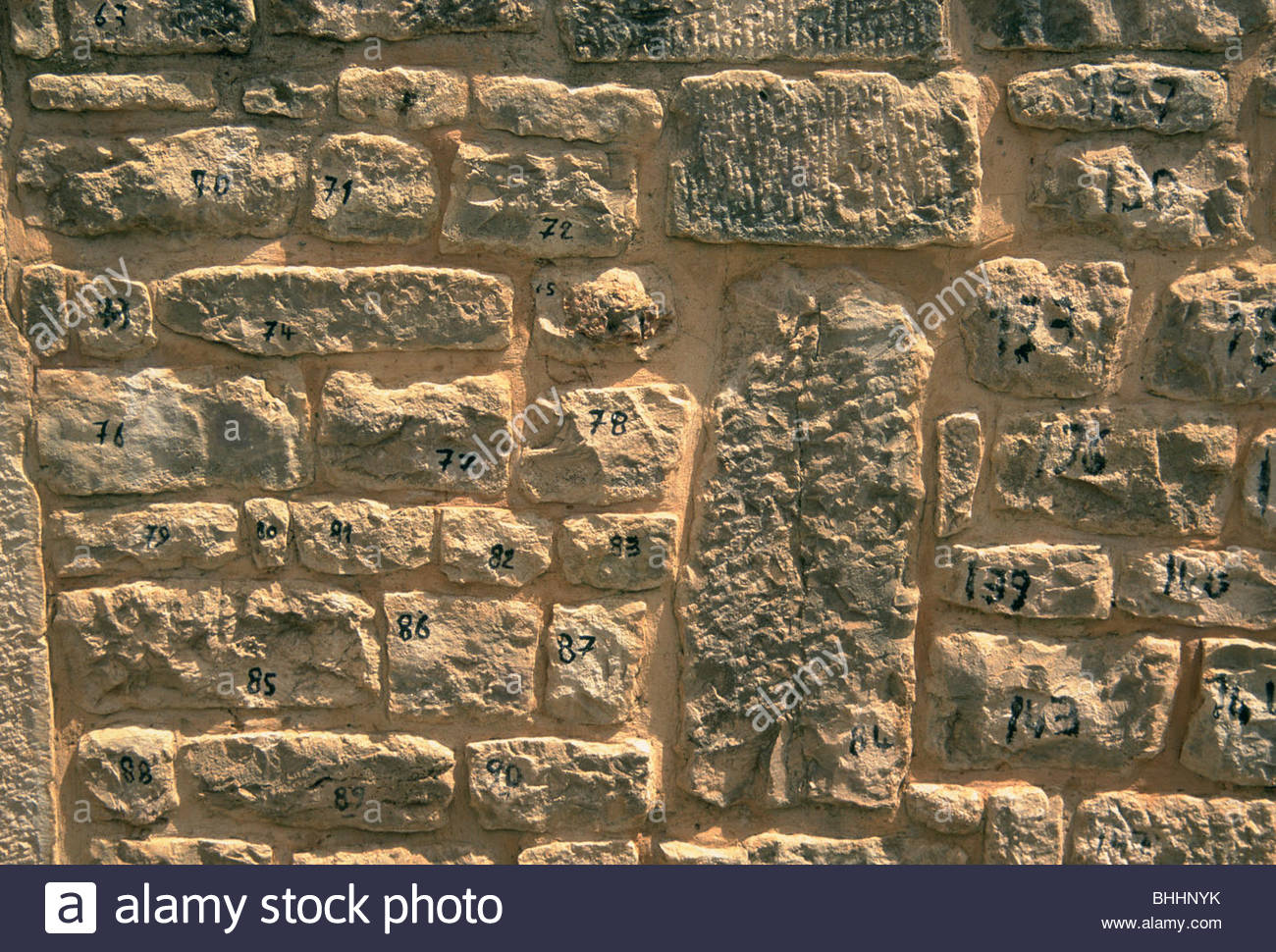 House reconstructed by numbers, Dougga, Tunisia. Artist: Dr Stephen Coyne - Stock Image