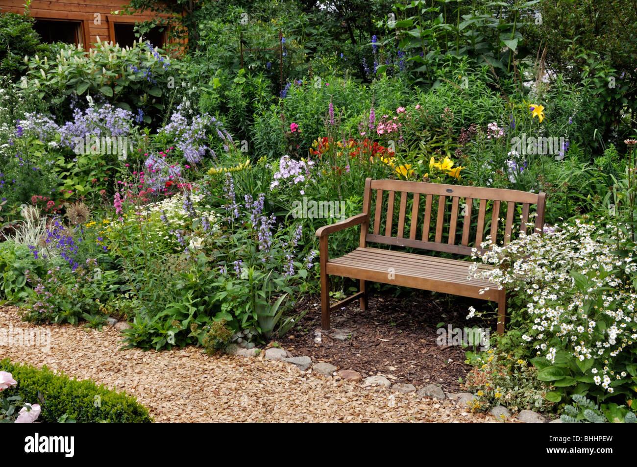 Bench In A Perennial Garden Design Marianne And Detlef Ludke