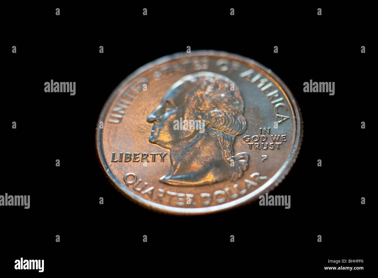 US quarter dollar coin - Stock Image