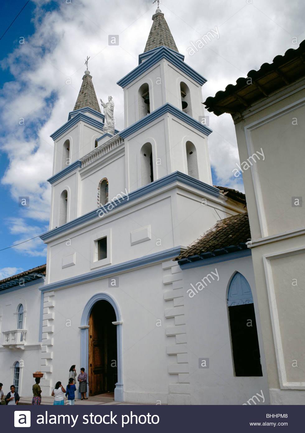 Catholic church of San Antonio de Ibarra, Ecuador. Artist: Dr Stephen Coyne - Stock Image