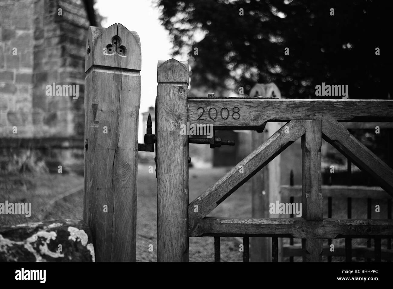 churchyard tanworth in arden church warwickshire midlands - Stock Image
