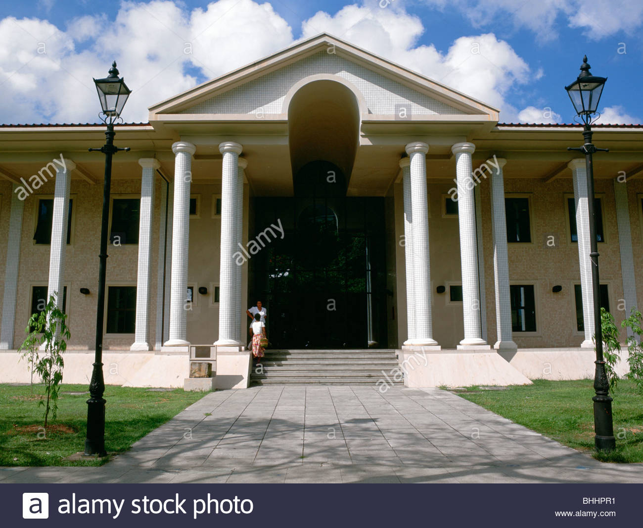 National Library and Archive, Victoria, Mahe, Seychelles. Artist: Dr Stephen Coyne - Stock Image