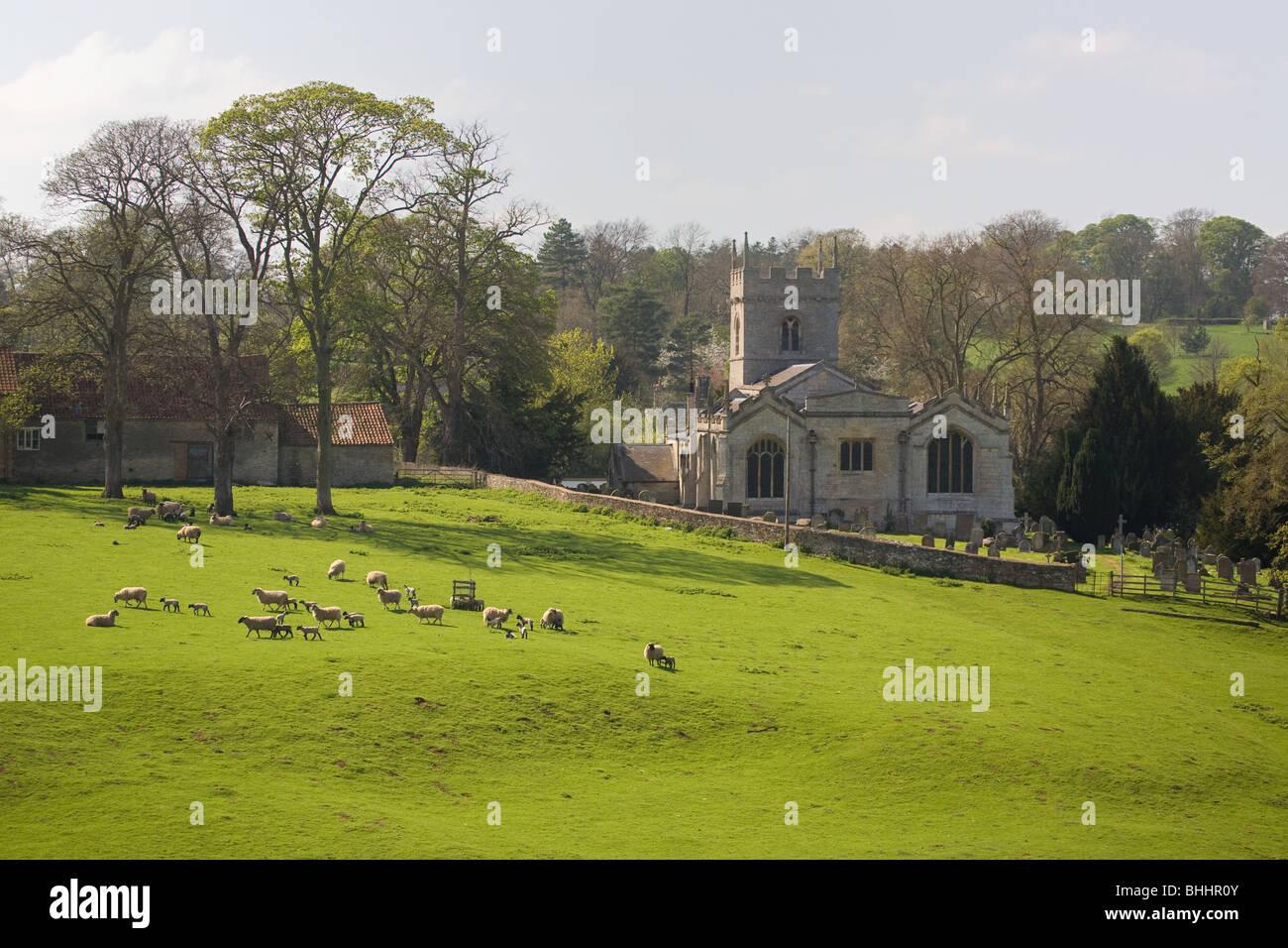 Pastoral English Landscape - Stock Image