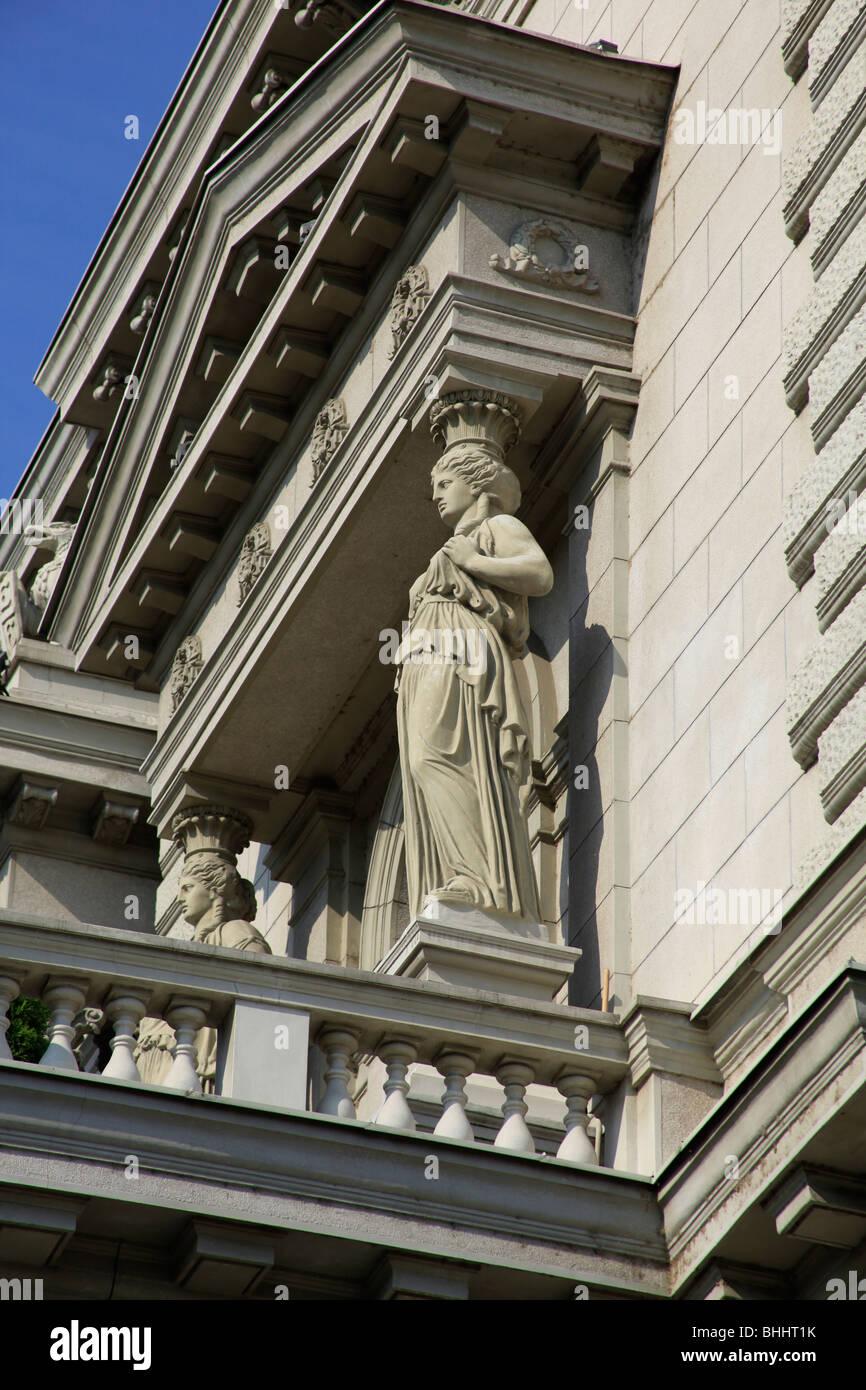 Caryatid in Belgrade - Stock Image