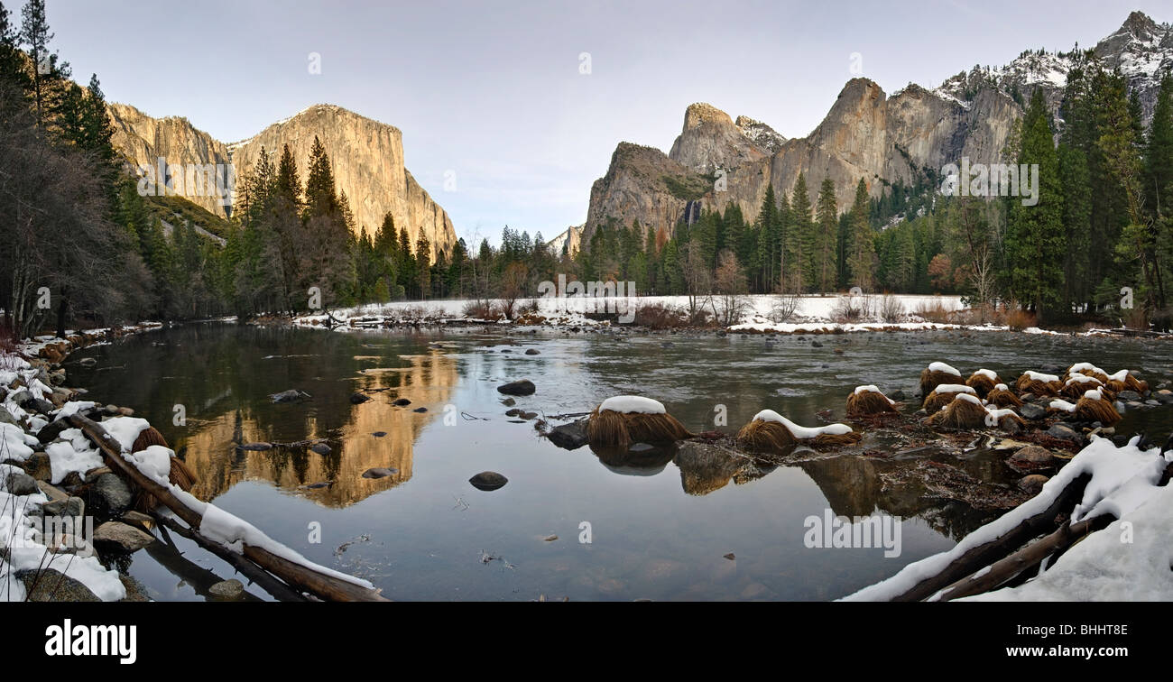 Dramatic view of Yosemite Valley. - Stock Image