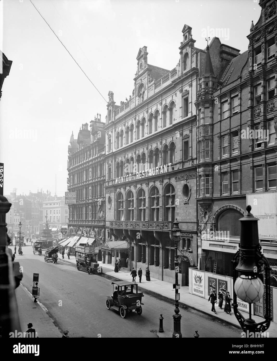 Shaftesbury Avenue, Westminster, London, 1915. Artist: Bedford Lemere and Company Stock Photo