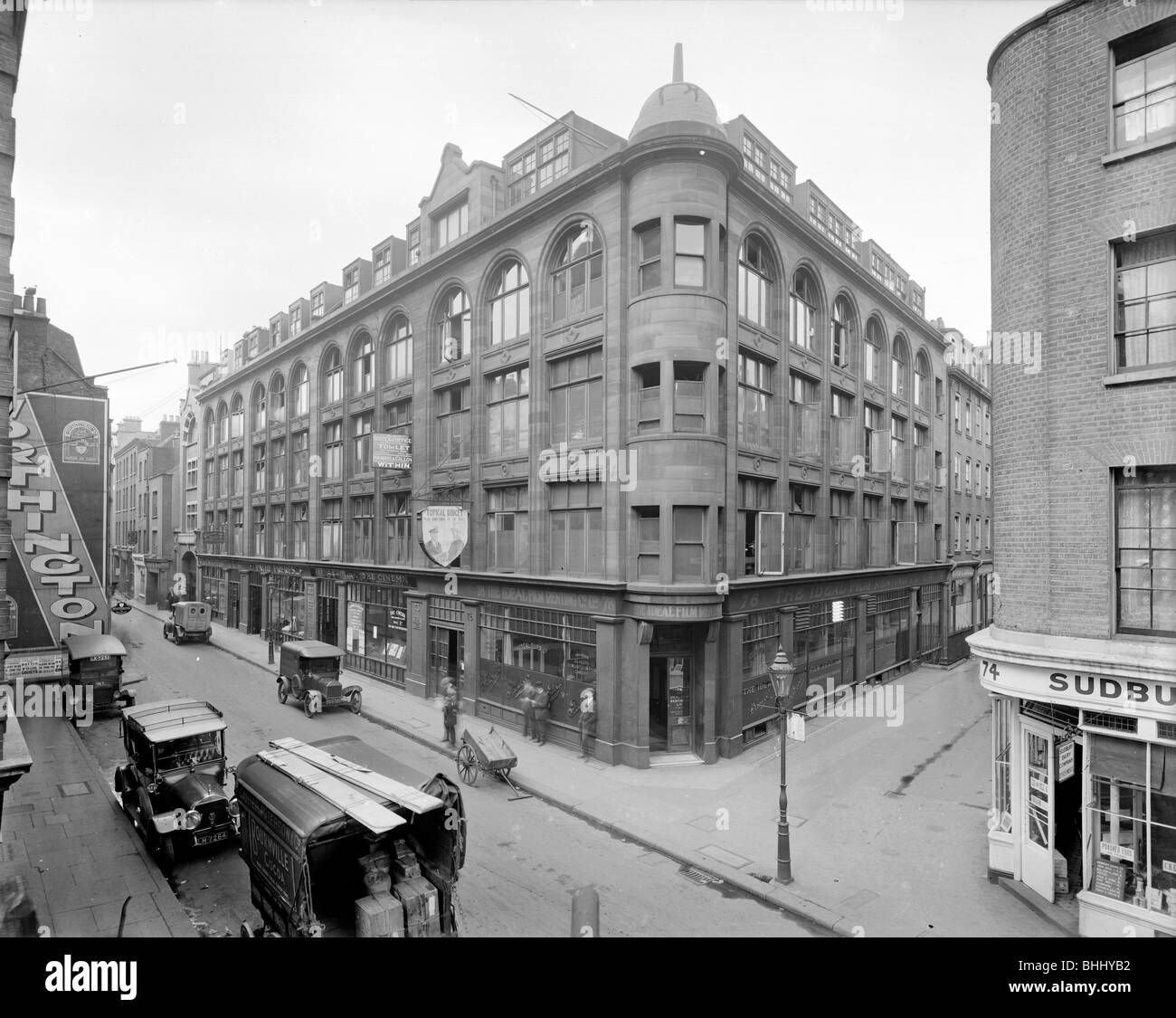 76-88 Wardour Street, Westminster, London, 1923. Artist: Bedford Lemere and Company - Stock Image