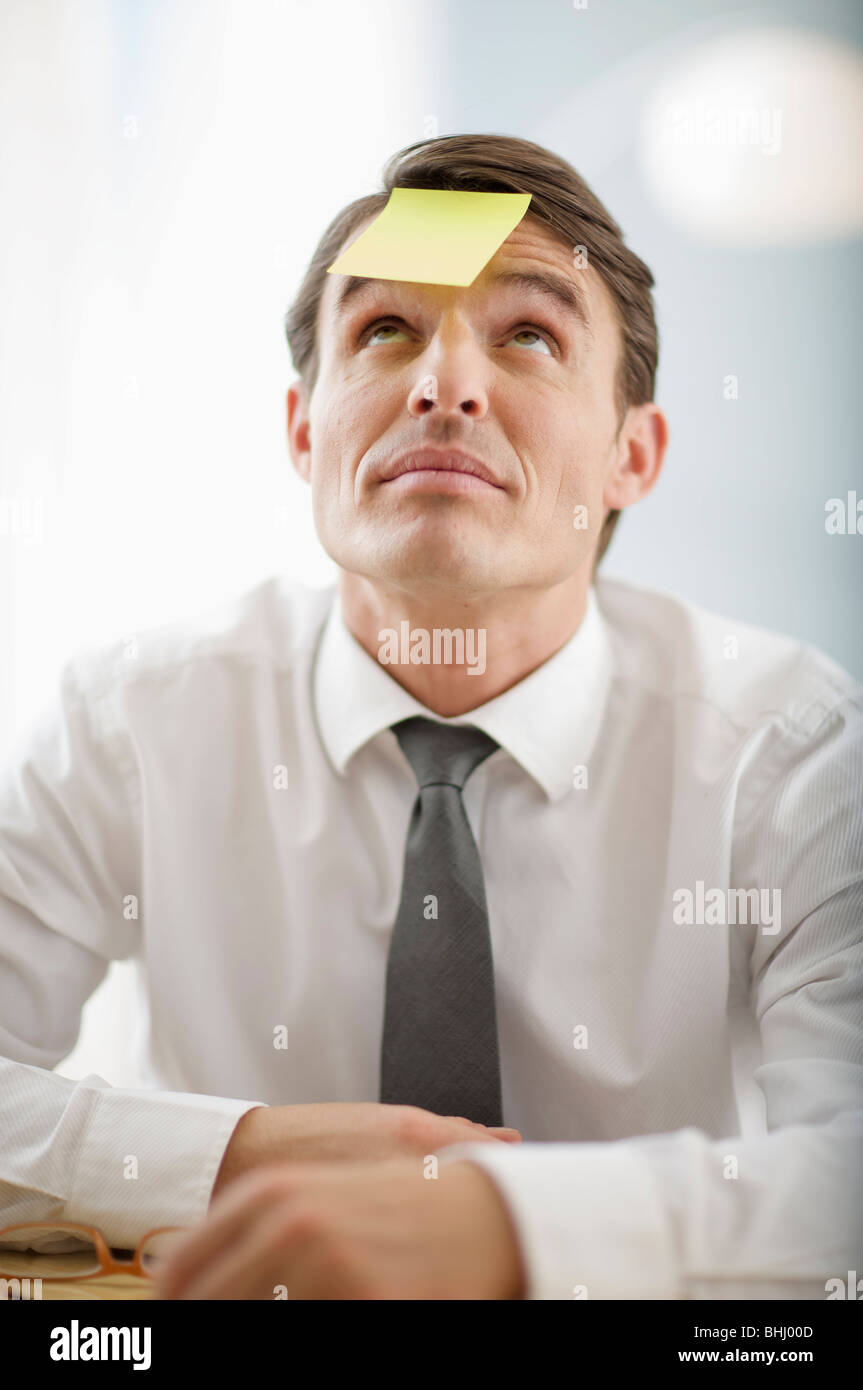 man in need of help from above - Stock Image