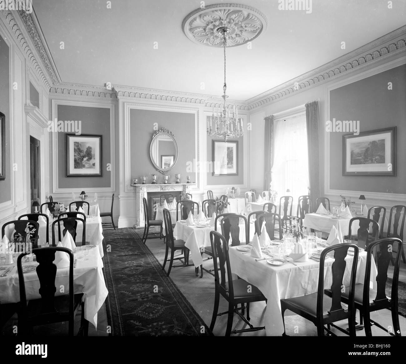 Dining Room, North Cray Place, Bexley, London, 1908. Artist: