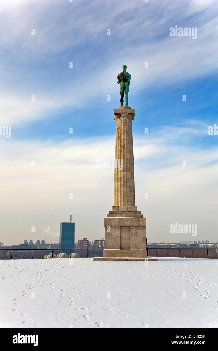 Belgrade, Kalemegdan, winter - Stock Image