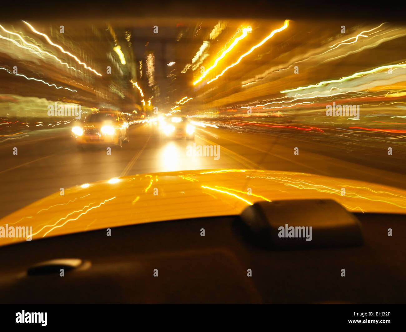 Nighttime moving shot - Stock Image