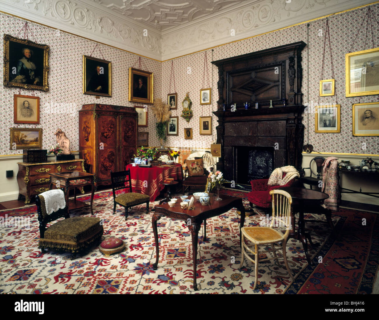 Lady Braybrooke's Sitting Room, Audley End House, Saffron Walden, Essex, 1994. Artist: Paul Highnam Stock Photo