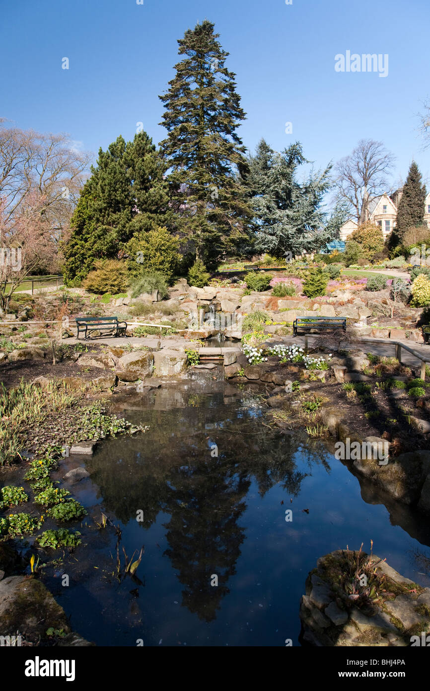 The rockery in the Botanical Gardens, Sheffield - Stock Image