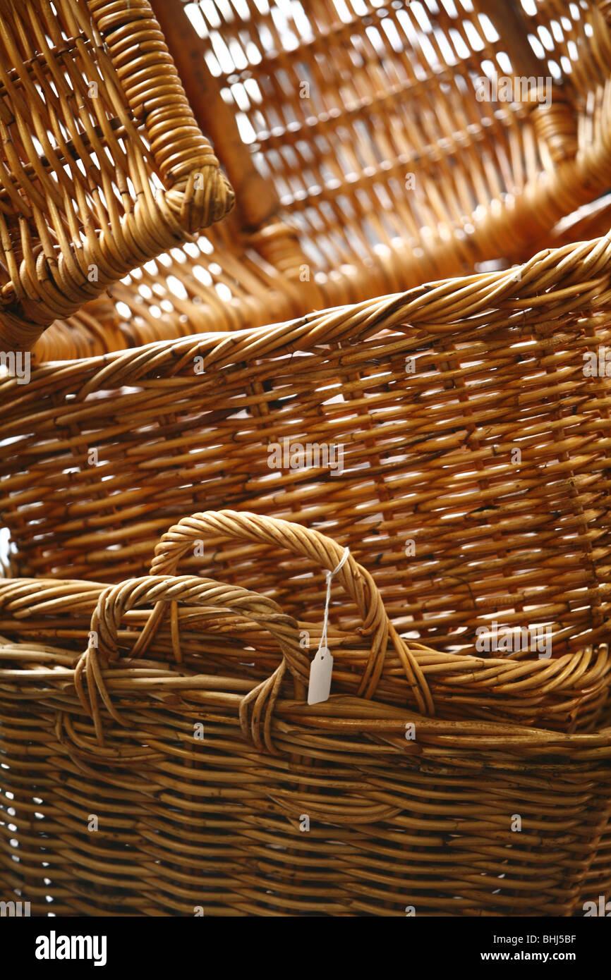 Wicker baskets - Stock Image