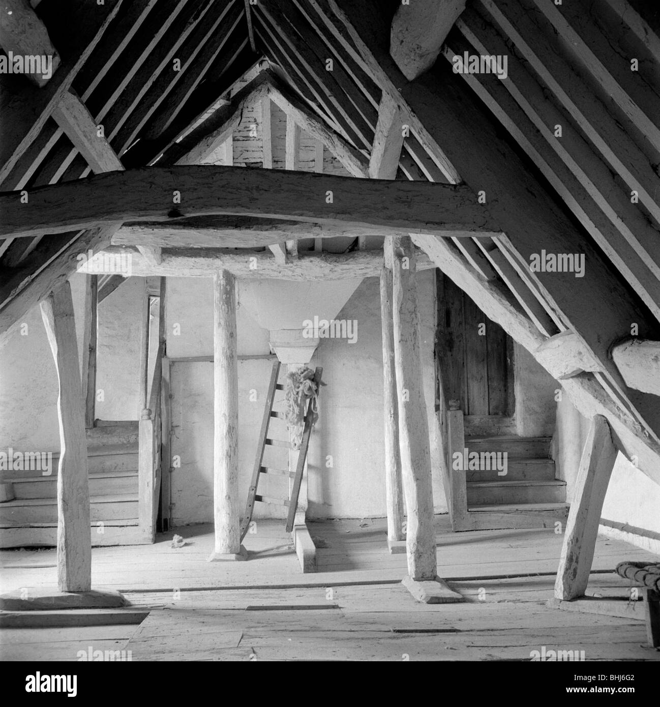 An attic in Kelmscott Manor Oxfordshire 1949. Artist Eric de Maré & An attic in Kelmscott Manor Oxfordshire 1949. Artist: Eric de Maré ...