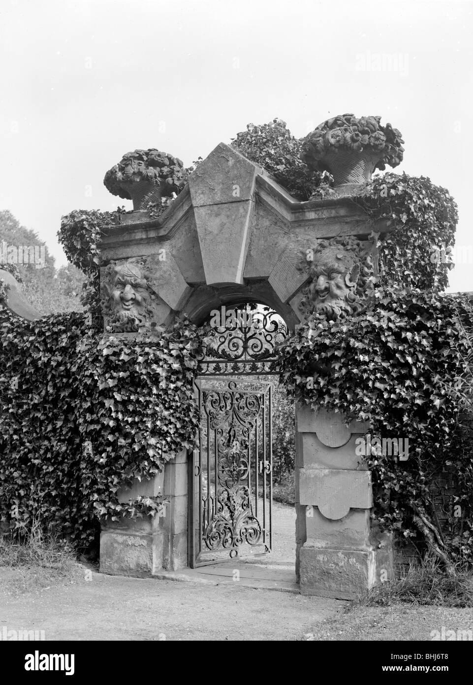 The Satyr Gate, Castle Howard, North Yorkshire. - Stock Image