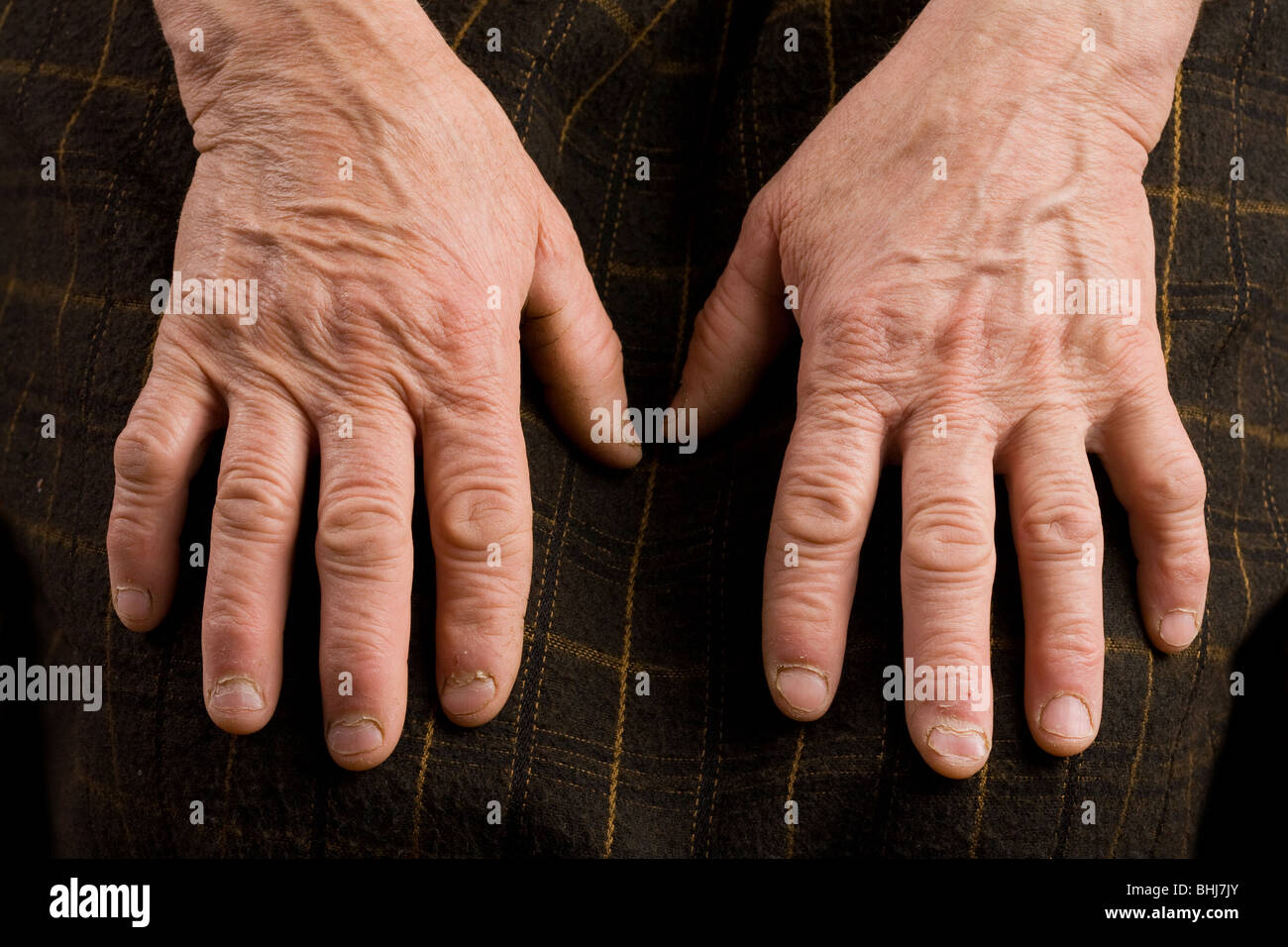 Close up of an old woman's hands - Stock Image