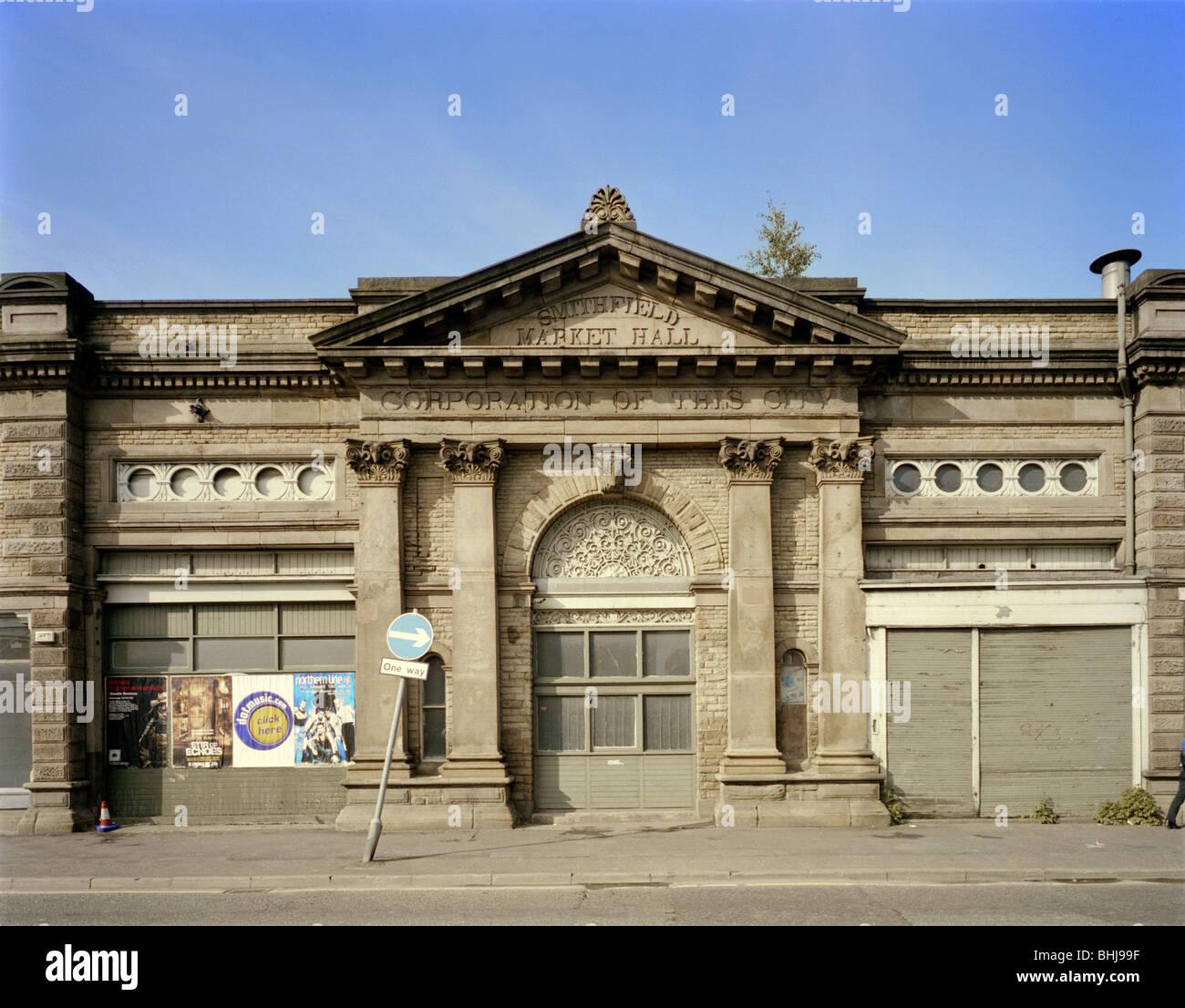 Smithfield Market 39-57 Swan Street Manchester 2000. Artist JO & Swan Street Stock Photos u0026 Swan Street Stock Images - Alamy