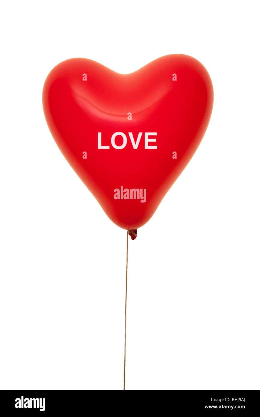 love heart shape balloon - Stock Image