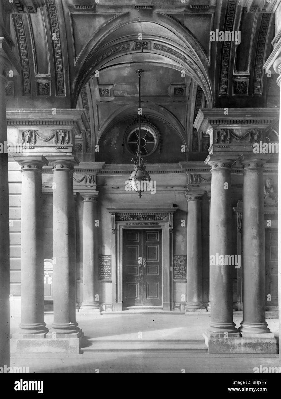 Somerset House, The Strand, Westminster, London, 1944. Artist: HW Sale - Stock Image