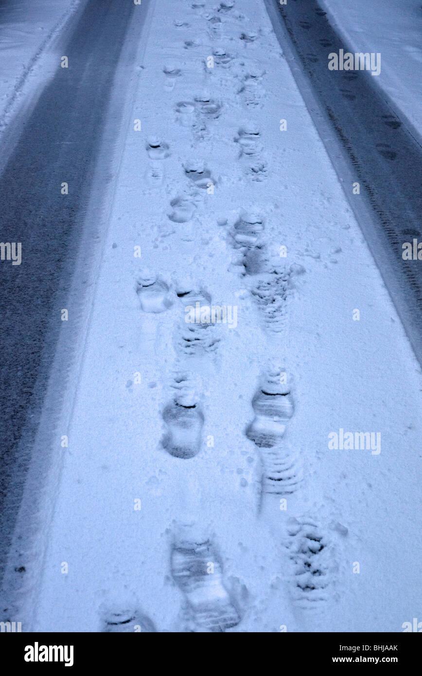 Ivor Sreet NW1 after snow - Stock Image