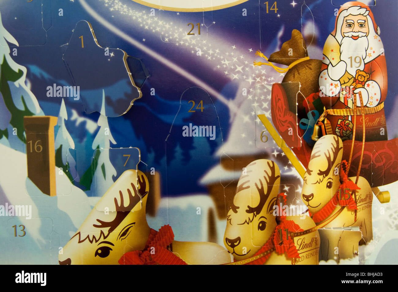 Lindt chocolate Advent Calendar - Stock Image