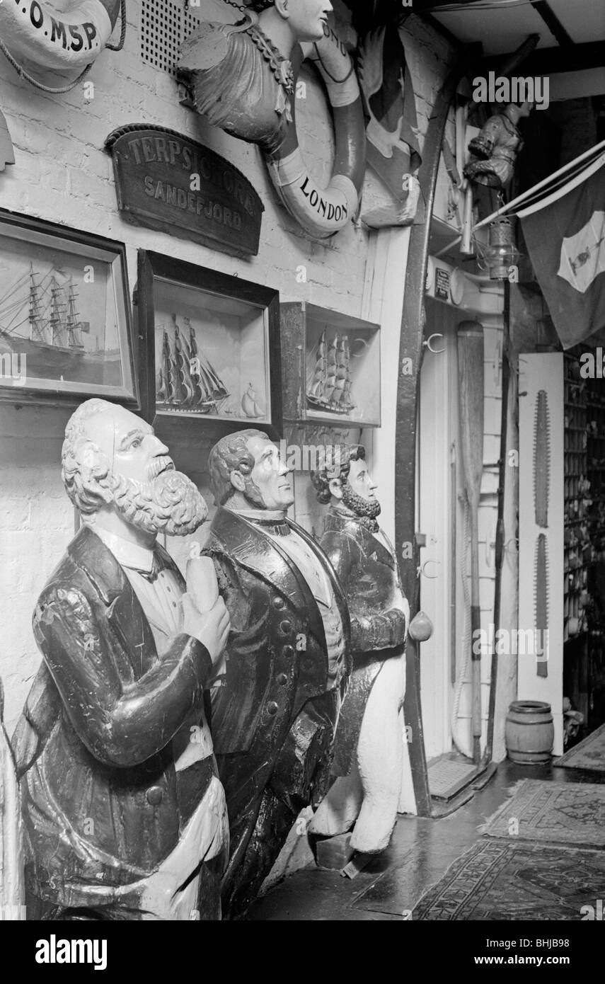 View of an exhibition of maritime artefacts, c1945-c1965.   Artist: SW Rawlings - Stock Image